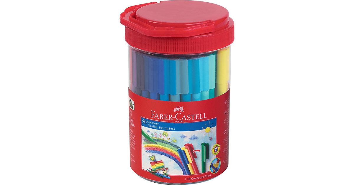 CONNECTOR Pen Filzstifte, 50 Farben, Runddose