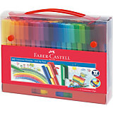 Фломастеры Faber-Castell Connector, 60 цветов, смываемые