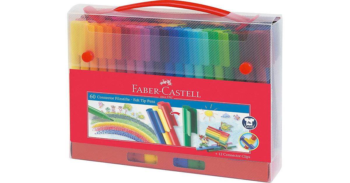 CONNECTOR Pen Filzstifte Unterwegs, 60 Farben& Zubehör im Koffer Kinder