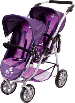 Zwillings-Puppenbuggy Vario, violett