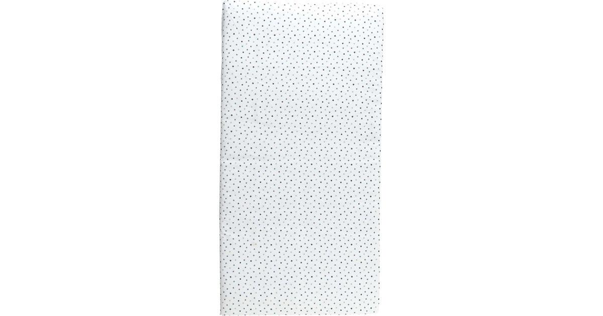 Reisebettmatratze Sterne rollbar, 60 x 120 cm weiß