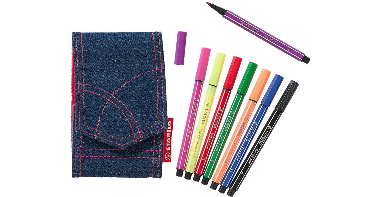 Filzstifte Pen 68 Mini im Jeansetui, ltd. Edition, 8 Farben