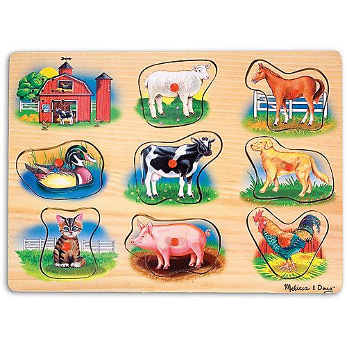 "Рамка-вкладыш со звуком ""Ферма"", Melissa & Doug от Melissa & Doug"