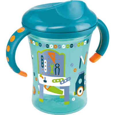 Trinkbecher Easy Learning Trainer Cup, PP, 250 ml, Silikon-Trinktülle, petrol
