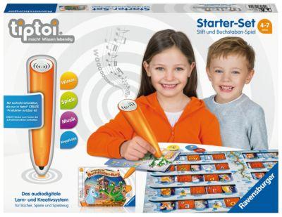 tiptoi® Starter-Set mit Stift (mit Player) & Spiel Schatzsuche in der Buchstabenburg