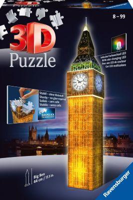 3-D Puzzle-Bauwerke Big Ben bei Nacht (mit LED Beleuchtung)