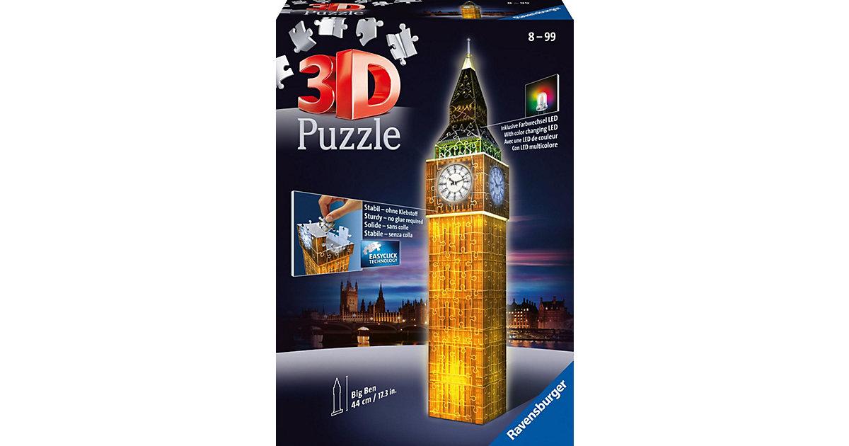 3-D Puzzle-Bauwerke Big Ben bei Nacht (mit LED ...