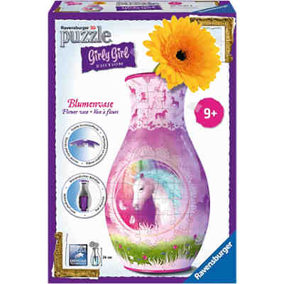 3-D Puzzle Girly Girl Edition Blumenvase Einhörner