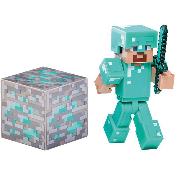 Minecraft Diamant Steve mit Zubehör, Minecraft