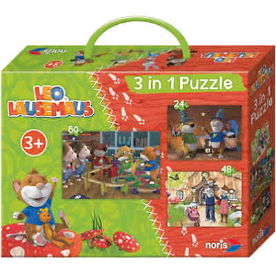 Puzzleset Leo Lausemaus 3 in 1