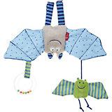 Мягконабивная игрушка Sigikid, голубая Летучая мышь, коллекция Городские Дети, 22 см