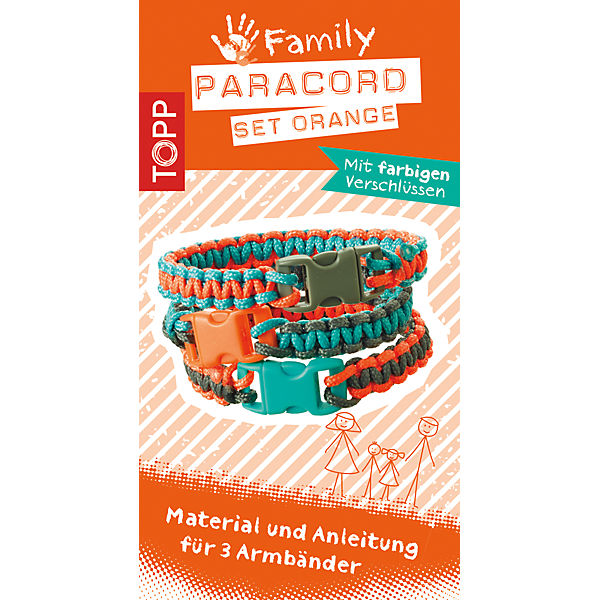 Kreativset Paracord Family Set ORANGE