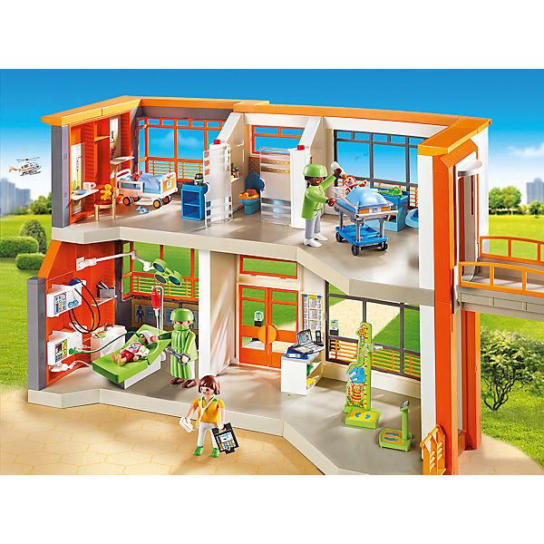 PLAYMOBIL® 6657 Kinderklinik mit Einrichtung, PLAYMOBIL City Life ...