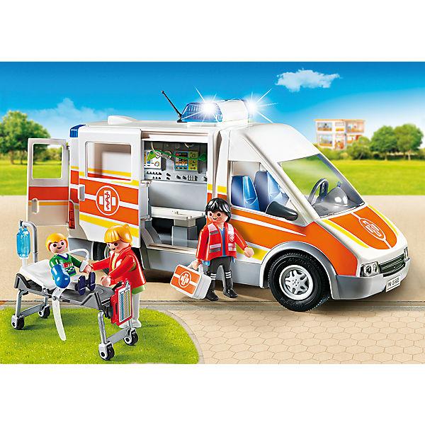 playmobil 6685 krankenwagen mit licht und sound playmobil city life mytoys. Black Bedroom Furniture Sets. Home Design Ideas