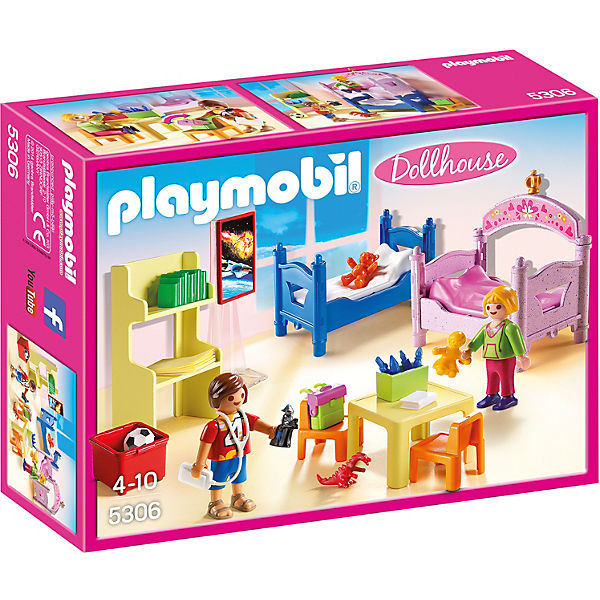 playmobil 5306 buntes kinderzimmer playmobil city life. Black Bedroom Furniture Sets. Home Design Ideas