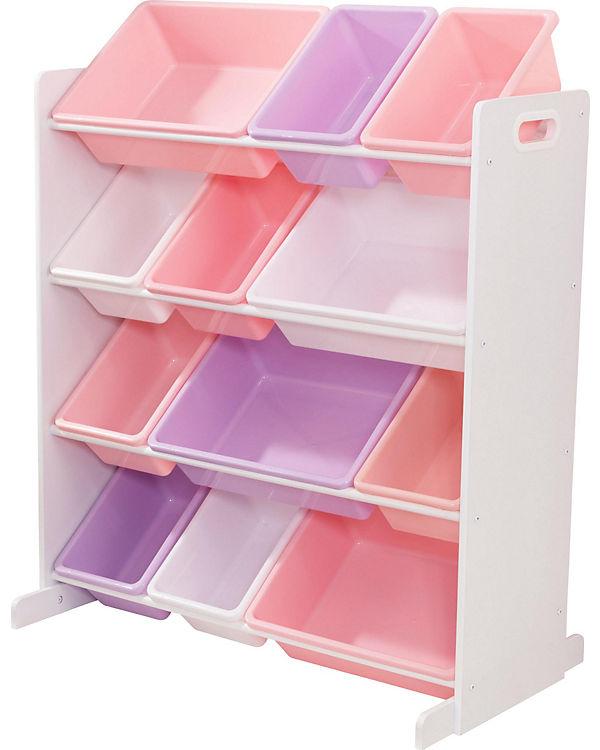 12 Boxen Regal Weiss Pastellfarben Kidkraft Mytoys