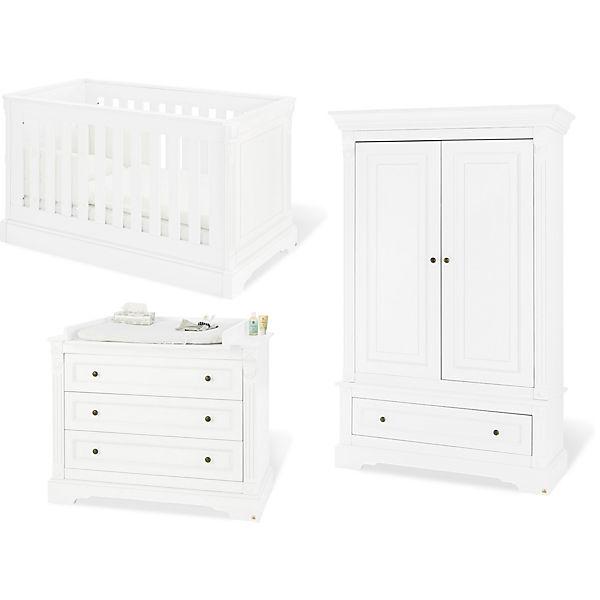 Schön Komplett Kinderzimmer EMILIA, (Kinderbett, Wickelkommode, Kleiderschrank  2 Trg.),. Pinolino