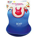 Мягкий нагрудник с кармашком, Roxy-Kids, синий