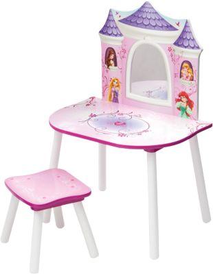 Schminktisch und Hocker, Disney Princess rosa