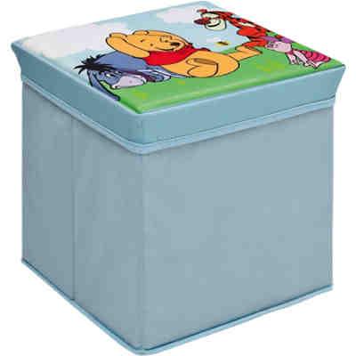 sitzw rfel aufbewahrungsbox winnie the pooh disney winnie puuh mytoys. Black Bedroom Furniture Sets. Home Design Ideas