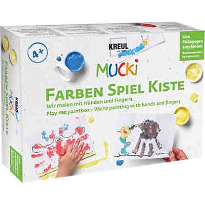Mucki Fingerfarbe, 6 x 150 ml auswaschbar, MUCKI