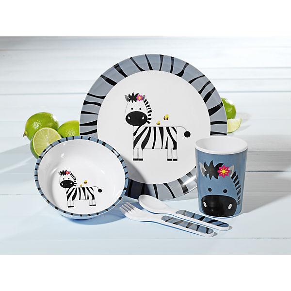 kindergeschirr stripes melamin 5 tlg mytoys. Black Bedroom Furniture Sets. Home Design Ideas