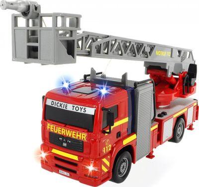 Blechspielzeug Super Cars Feuerwehrwagen mit ausziehbarer Leiter
