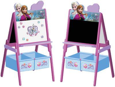 Schreib- und Magnet- Standtafel mit Aufbewahrung, Die Eiskönigin mehrfarbig