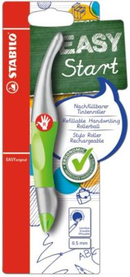 Tintenroller mit 4 Patronen Strichstärke 0,5 mm in grün