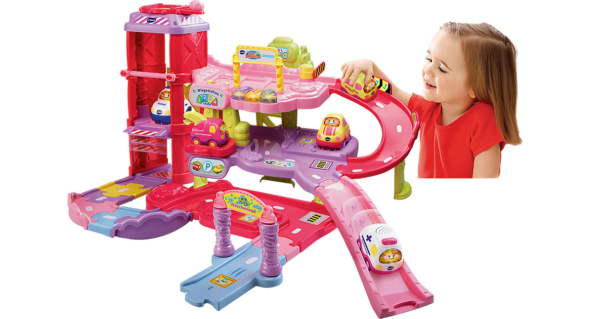 Tut Tut Baby Flitzer - Spielset Parkgarage pink | Baumarkt > Garagen und Carports > Garagen | Vtech