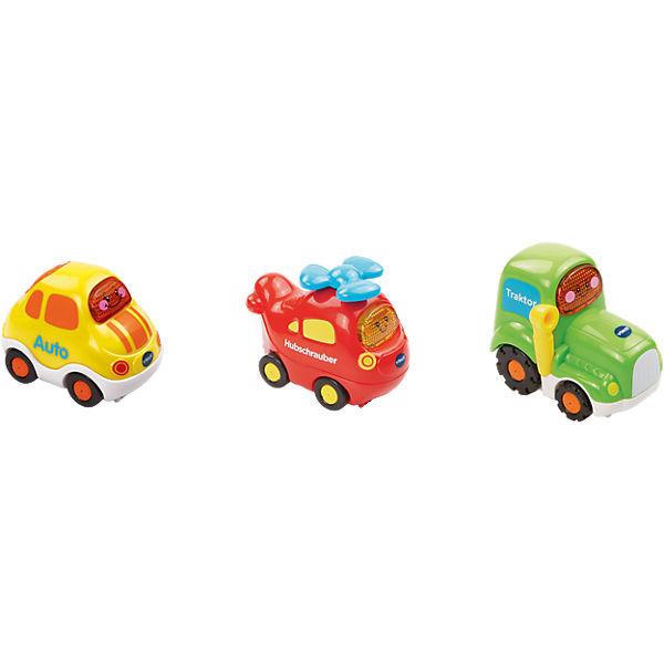 Tut Tut Baby Flitzer - 3er-Set Hubschrauber, Auto, Traktor, Tut Tut Flitzer