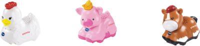 Tip Tap Baby Tiere - 3er-Set Pferd braun, Schwein, Henne