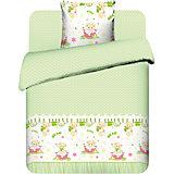 Детское постельное белье 3 предмета Василёк, Медвежонок, зеленый