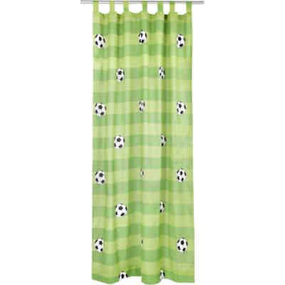 Attrayant Vorhang Set Fußball Inkl. Bügelband, Je 245 X 140 Cm (2 Schals),