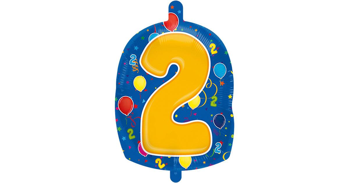 Folienballon Zahl 2