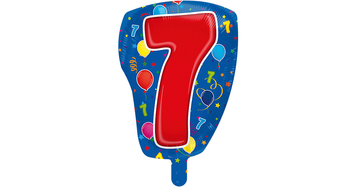Folienballon Zahl 7