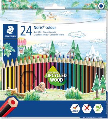 Noris colour Buntstifte, 6-Kant, 24 Farben