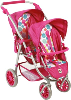 Zwillings-Puppenbuggy Vario, Pink