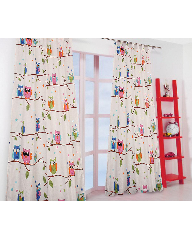 vorhang set eule inkl b gelband je 245 x 140 cm 2 schals mytoys. Black Bedroom Furniture Sets. Home Design Ideas