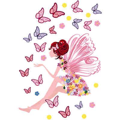 Wandsticker Fee und Schmetterlinge, 67 x 47 cm, | myToys