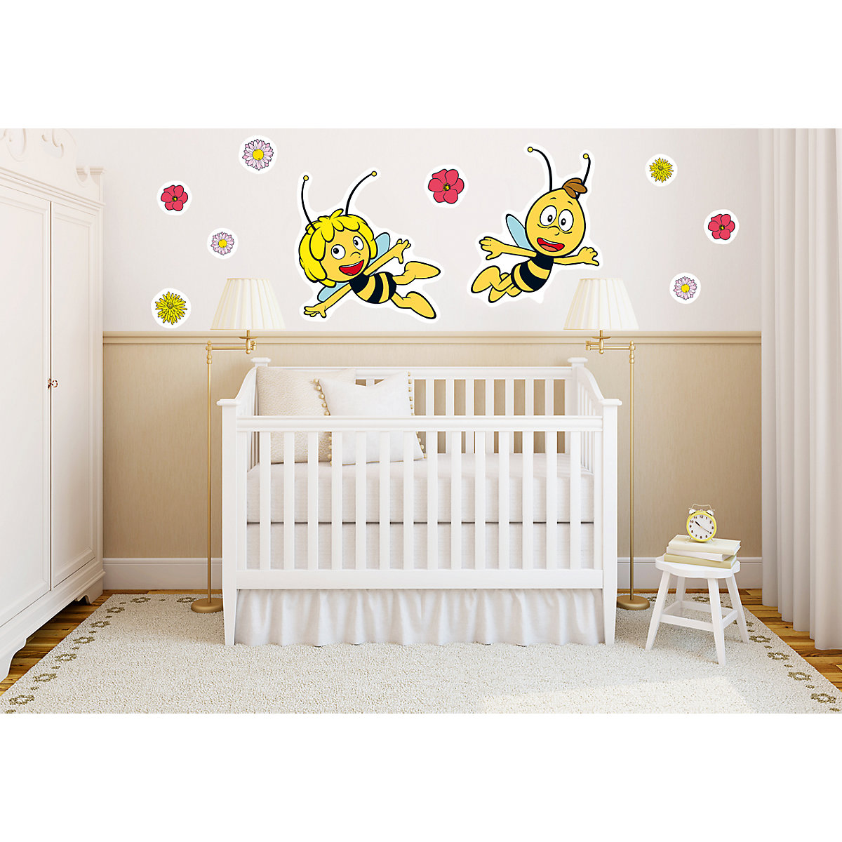 wandsticker biene maja und willi 67 x 47 cm biene maja mytoys. Black Bedroom Furniture Sets. Home Design Ideas