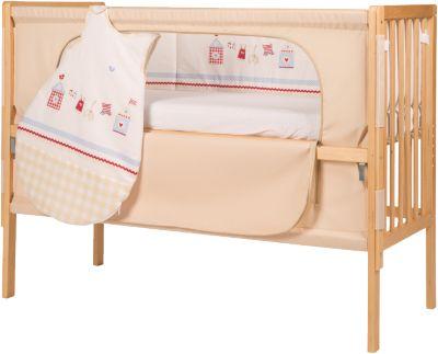 Beistell kinderbett mit schlafsack nestchen matratze natur