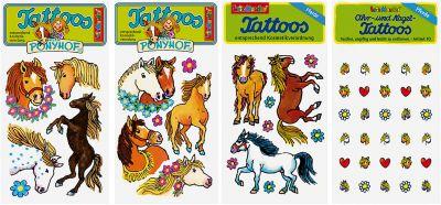Mini Tattoos Mein Ponyhof 24 Stück Lutz Mauder Verlag