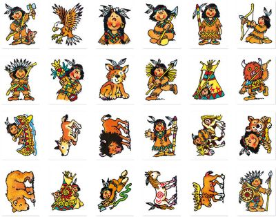 ... Mini Tattoos Indianer Yanuk, 24 Stück 2