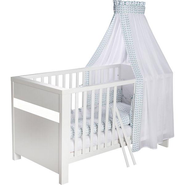 kinderbett planet white 70x140 cm wei schardt mytoys. Black Bedroom Furniture Sets. Home Design Ideas