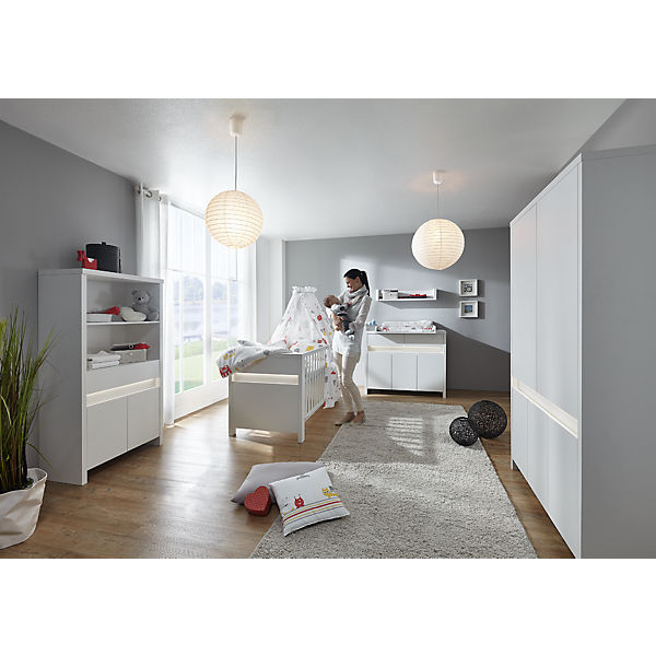 Komplett Kinderzimmer Planet White 3 Tlg Kinderbett