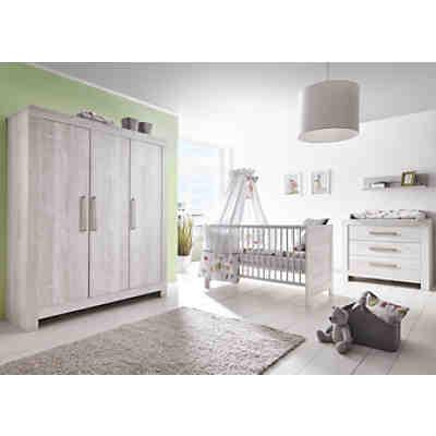 komplett kinderzimmer nordic chic 3 tlg kinderbett. Black Bedroom Furniture Sets. Home Design Ideas