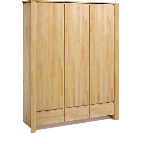 Kleiderschrank nature ii 3 trg buche massiv ge lt for Kleiderschrank teenager