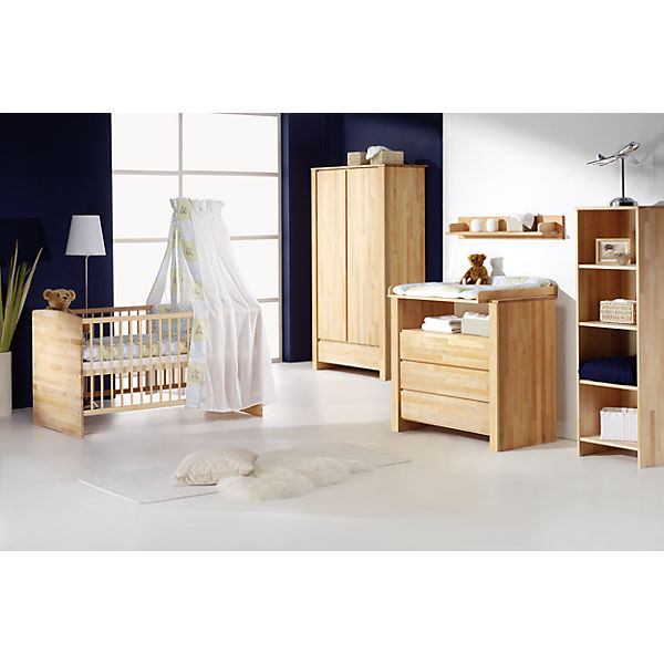 komplettkinderzimmer nature ii 3 tlg gro kinderbett umbauseiten wickelkommode und. Black Bedroom Furniture Sets. Home Design Ideas