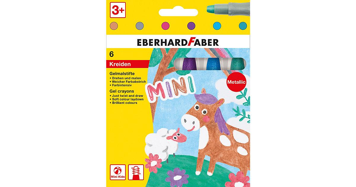 Mini Kids Gelmalstifte/Fenstermaler, 6 Glitter-Farben